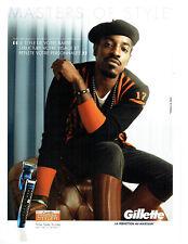Publicité Advertising 078  2012  rasoir Gillette proglide styler & André 3000 Be