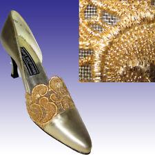 New STUART WEITZMAN Balmoral GOLD LACE Heels 11.5AAAA WEDDING PROM Shoes