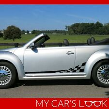 VW Volkswagen Beetle 2012-2016 Checkered Side Stripes graphi decal Porsche style