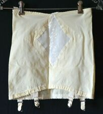 Vintage 50s OLGA Corsetry Suddenly Slim Open Skirt Girdle w Metal Garters - S/M