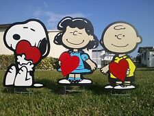 Charlie Brown and  Lucy COMBO outdoor Valentine's Day Decorations