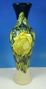 """MOORCROFT RHS Marechal Niel 93/12 Yellow Rose Limited Edition Of 50 12"""" Vase"""