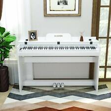 E-Klavier Digital Piano Keyboard 88 Tasten 3 Pedale mit USB/MIDI Weiß M309