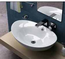 Belfry Bathroom Ceramic Oval Countertop Wash Basin, White