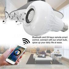 E27 Wireless Bluetooth Speaker Bulb Light 15W LED RGB Music Play Lamp & Remote