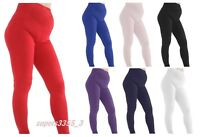 New Thick Comfortable Maternity Cotton Leggings Full Length PREGNANCY V1