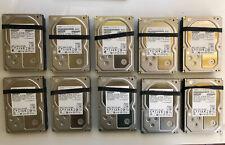 """Lot of 10 Hitachi 3TB 3.5"""" SATA 6Gbs Hard Drives 0F12460"""