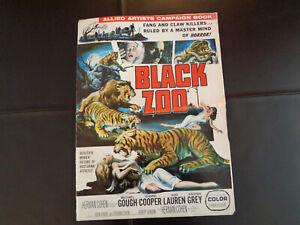THE BLACK ZOO 1963 ORIGINAL MOVIE ALLIED ARTISTS PRESSBOOK FINE+ HORROR M GOUGH