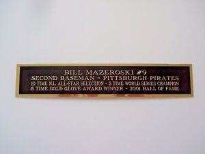 Bill Mazeroski Nameplate For An Autographed Baseball Bat Display Case 1.5 X 6