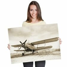 A1 - Old Airplane Vintage Aviation Plane Poster 60X90cm180gsm Print #21954