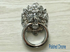 Lion Head Drawer Pull Cabinet Door Knocker Silver Gold Black Bronze Pewter Brass