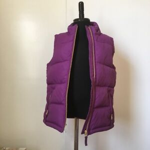 Mini Boden Girls Purple Quilted Warm Puffer West w/Floral Lining - 7/8 - EUC!
