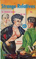 Vintage Sleaze PB Paperback - Strange Relatives - Unique Books Gene Bilbrew ENEG
