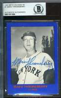 Marv Thronberry BAS Beckett Coa Autograph 1982 1962 Mets Hand Signed