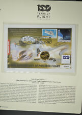 COIN & STAMP COVER 2001 QUARTER DOLLAR USA  100TH ANNIVERSARY OF POWERD FLIGHT