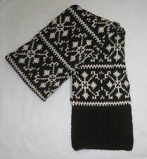 Women's Abercrombie & Fitch Ivory & Brown Woven Wool Blend Snow Flake Scarf