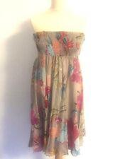 SALE LARA ETHNIC Summer dress elastic bodice multi col'd one-size grey and multi