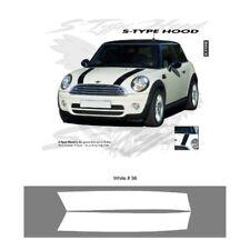 Mini Cooper Cooper S Style Hood Stripes Graphic Kit - Bright White