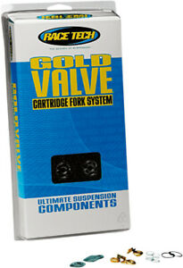 Race Tech Motorcycle Suspension Type 1 Fork Gold Valve Kit FMGV S2040
