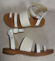 Rag & Bone Chartan Croc Leather Sandals flats White Gladiator sz 36 new $350