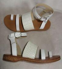 Rag & Bone Chartan Croc Leather Sandals flats White Gladiator sz 36 new $350