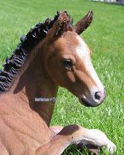 Fohlen Pferd Figur Statue Deko Dekoration Garten Pony braun Tierfigur lebensecht