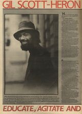30/4/83PNO6 ARTICLE GIL SCOTT HERON EDUCATE, AGITATE &0RGANISE