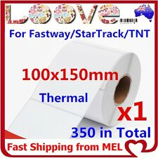 1x Thermal Direct Labels Rolls 100 X 150mm Fastway Startrack Zebra SATO DATA MAX