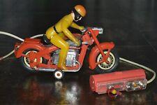 RARE TOY 1960's RUSSIAN SOVIET USSR Tin MOTORCYCLE KIEV BOX Biker COPY JAPAN VGC