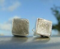 Meteorit Muonionalusta , Schweden - Ohrstecker - Silber 925  !