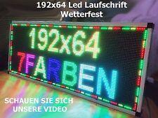 192x64 led laufschrift 7 Farben wetterfest outdoor schild werbung