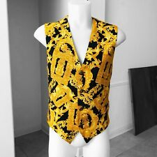 V2 by VERSACE cotton vest Baroque Frames print size ITA 48 from 1995