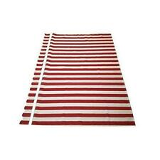 Aleko Fab10X8Redwt05-Ape Red And White Fabric For Retractable Patio Awning