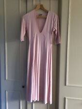 ASOS TALL Midi Dress With Extreme Plunge Neckline ~ 8 UK ~ Light Pink