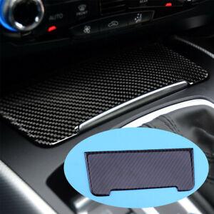 Carbon Fiber Color Cigarette Lighter Panel Cover Fit For Audi A4 B8 A5 Q5 09-16
