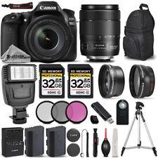 Canon EOS 90D DSLR Camera + 18-135mm IS USM + FLASH + UV, CPL, FLD FILTER +64GB