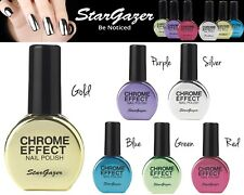 Stargazer Nail Polish CHROME Metallic Varnish Mirror Effect Shine Finish Shades