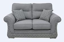 Luna 2 Seater Sofa Settee Halifax Grey Fabric