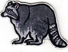 RACCOON - FOREST ANIMAL - WOODS - IRON ON EMBROIDERED PATCH - WILD ANIMALS