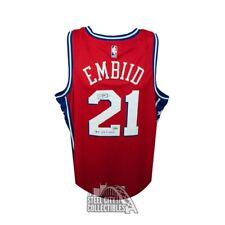 Joel Embiid Autographed 76ers The Process Red Nike Basketball Jersey - Fanatics