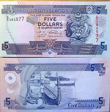 """BILLETE """"  ISLAS SALOMON    """"  5  DOLARES   """"AÑO  2009  UNC PLANCHA"""