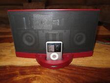 RARE RED Burgundy Bose SoundDock® Series II Digital Music System - Bonus iPod!