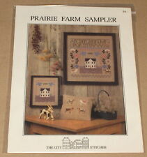"The City Stitcher ""Prairie Farm Sampler"" Cross Stitch Patterns NIP"