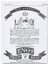 PUBLICITE ADVERTISING 044 1928 ENOS constipation embarras intestinaux médicament