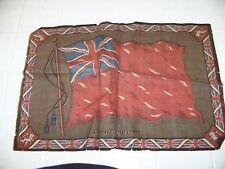 vintage felt Great Britain flag cigar cigarette Tobacciana Ww1 Ww2 green