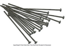"20 Piece Gunmetal Plated 1"" Flat Top Head Pins 22 Gauge Wire Beading Jewelry"