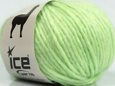 Peru Alpaca Bulky Yarn Light Green #48706 Ice 50g Merino Wool Alpaca Acrylic