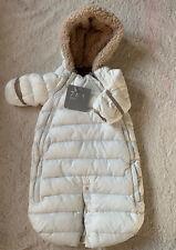 7Am Enfant Doudoune Infant Snowsuit Bunting 0-3 Color Beige Nwt