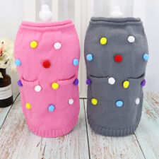 Cute Balls Pet Sweaters for Cats Pet Puppy Clothes Vest Jumper Chihuahua Yorkie