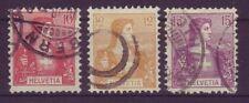 Gestempelte schweizer Briefmarken (bis 1945) als Einzelmarke